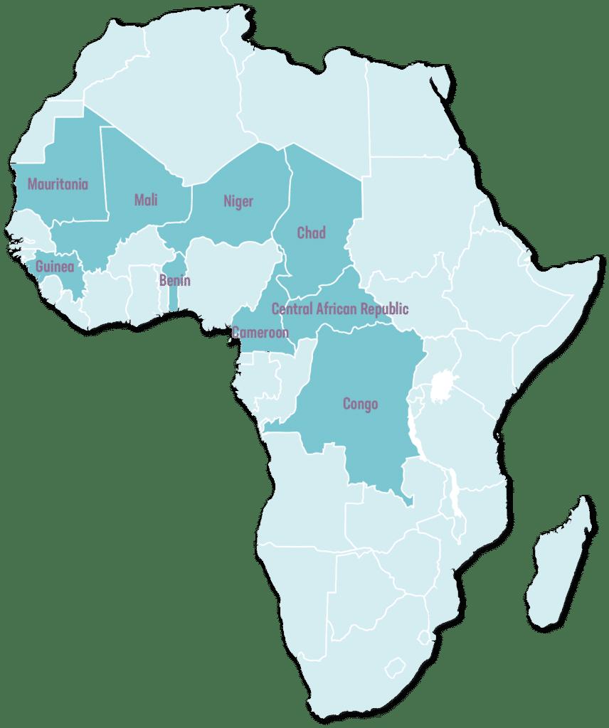map opc - L'Organisation pour la Prévention de la Cécité (OPC) encourage le renforcement des systèmes de santé oculaire et lutte pour le droit à la vue des populations les plus négligées en Afrique francophone.